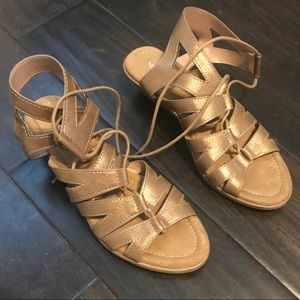 Gold Strapped Sandals